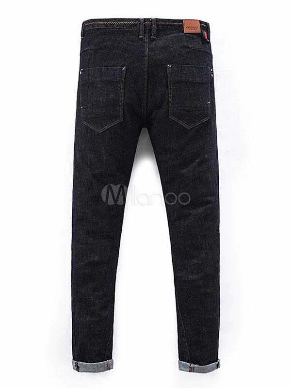 schwarze skinny jeans m nner volltonfarbe straight jeans hose. Black Bedroom Furniture Sets. Home Design Ideas