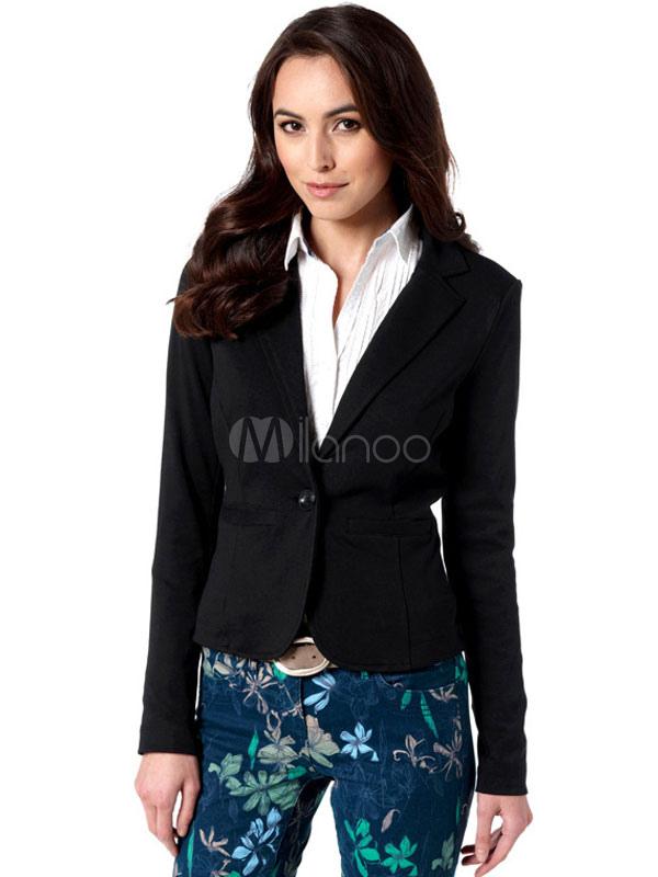 anzug jacke damen langarm taschen slim fit blazer anzug kurz. Black Bedroom Furniture Sets. Home Design Ideas