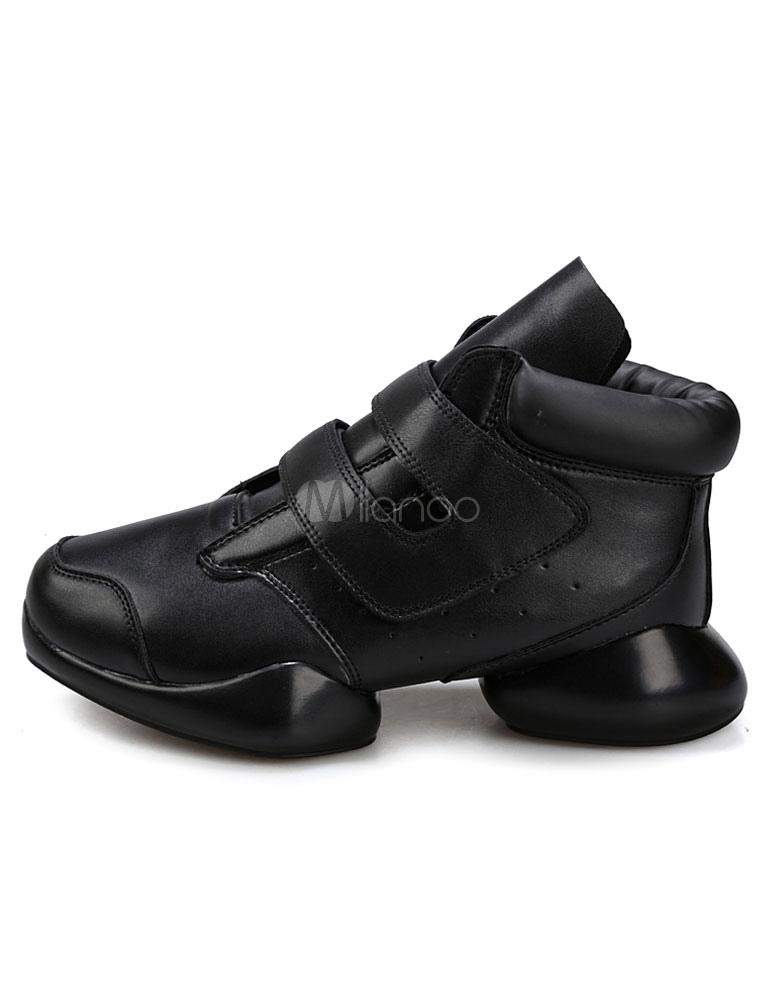 schwarze herren sneakers runde schnalle pu casual schuhe. Black Bedroom Furniture Sets. Home Design Ideas