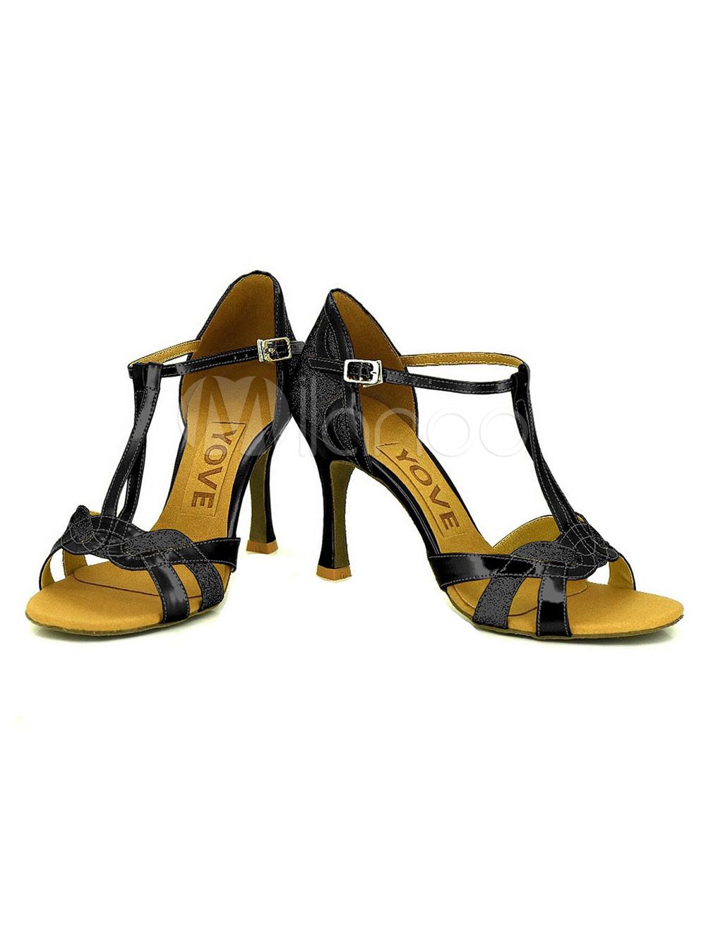 Tacco alto alla caviglia di nero scarpe da ballo scarpe da for Cappuccio da cabina da ballo