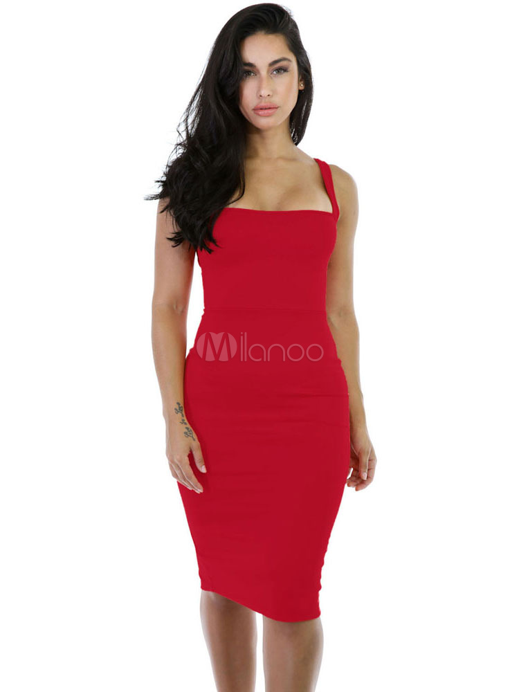 Red Club Dress Women's Bodycon Lace Up Sexy Dress (Women\\'s Clothing Club Dresses) photo