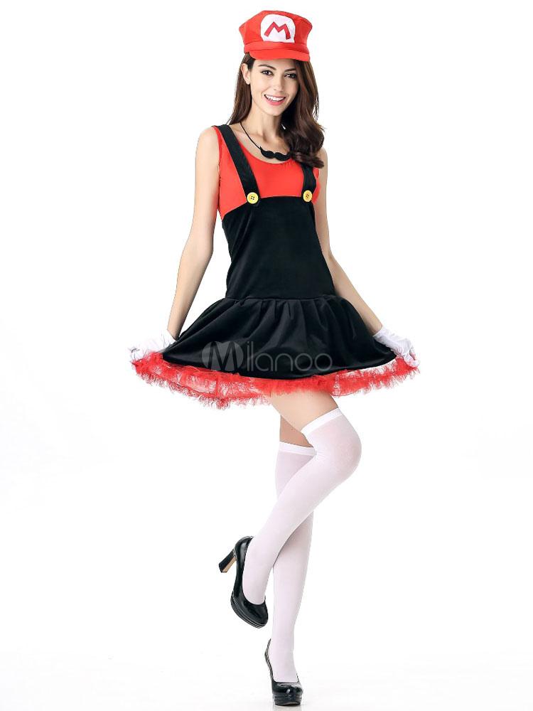 karnevalskost m super mario kost m damen outfit cosplay. Black Bedroom Furniture Sets. Home Design Ideas