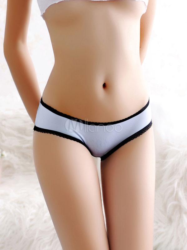 Black Sexy Panties Ruffle Big Bow Criss Cross Cut Out
