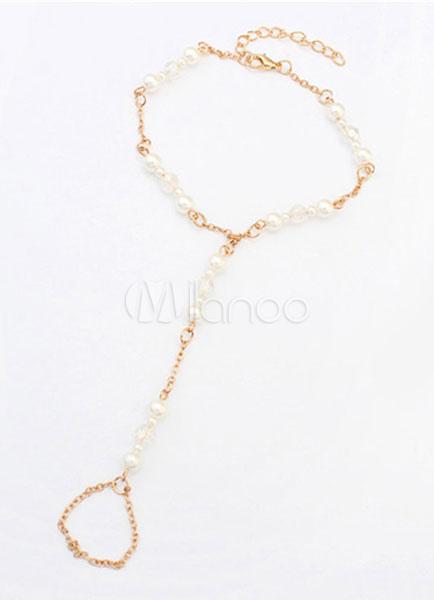 Beach Wedding Footwear Gold Pearl Anklet Women†s Beach Ankle Bracelet For Wedding