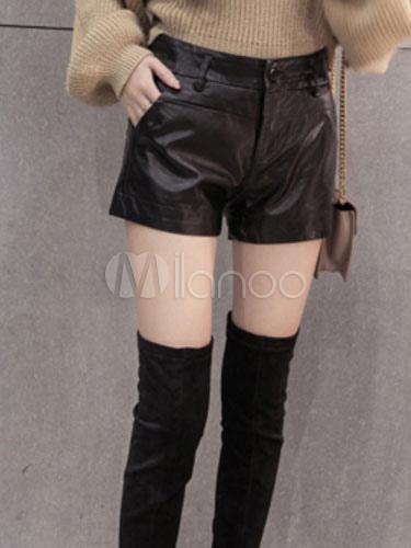 Pantaloni scurți de damă, din piele, diferite mărimi