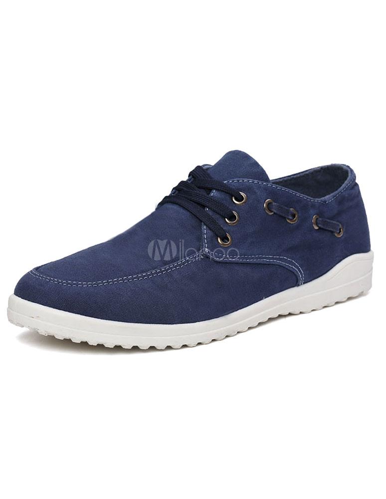 blaue herren sneakers runde zehe flach casual schn rschuhe. Black Bedroom Furniture Sets. Home Design Ideas