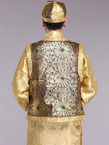 Vêtements Robes Halloween Costume chinois anciens hommes costumes vêtements traditionnels de Prince de la dynastie Qing