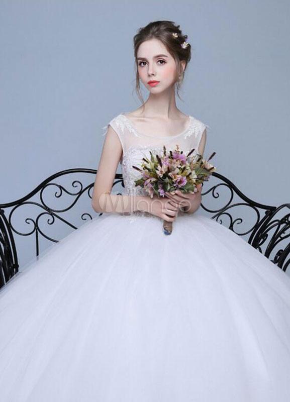 robe de mari e dentelle plus size robe de mari e a ligne illusion cou ouvert dos tage longueur. Black Bedroom Furniture Sets. Home Design Ideas