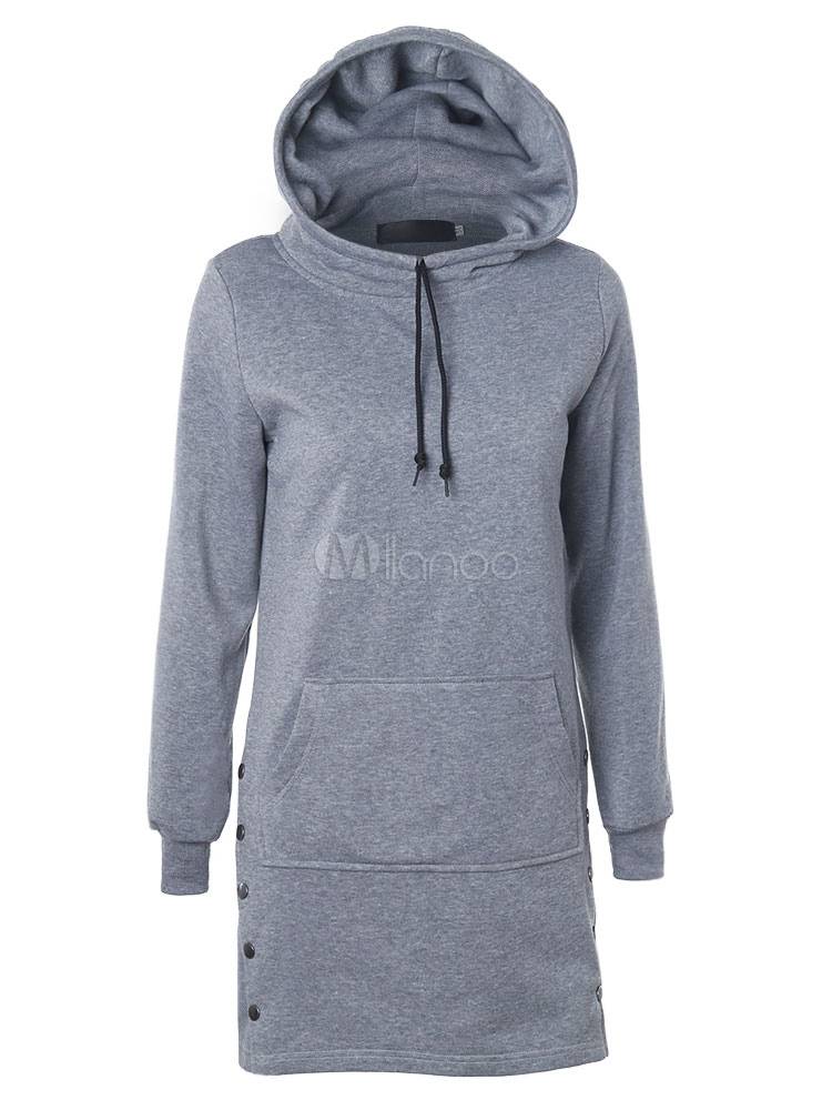 lange pullover hoodie damen kordel tasche baumwolle hoodie. Black Bedroom Furniture Sets. Home Design Ideas