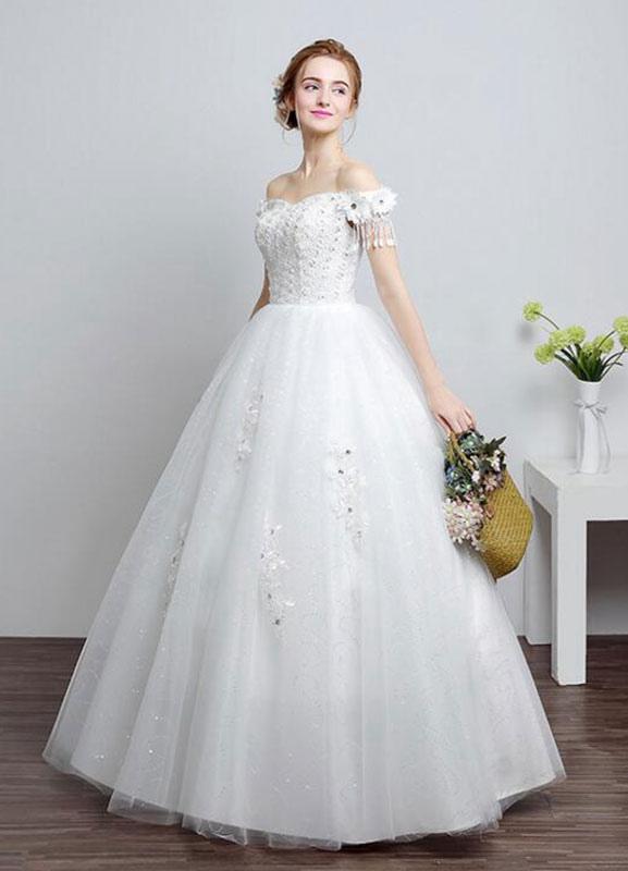 robe de mari e ivoire au large de la robe de bal de On ajouter des perles à la robe de mariée