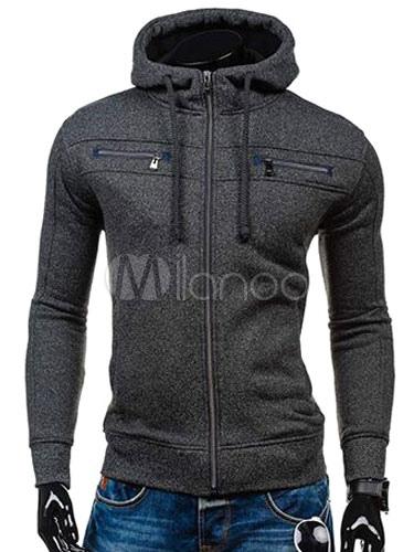 Men's Hoodie Jacket Long Sleeve Fit Casual Cotton Zip Up Hoodie thumbnail