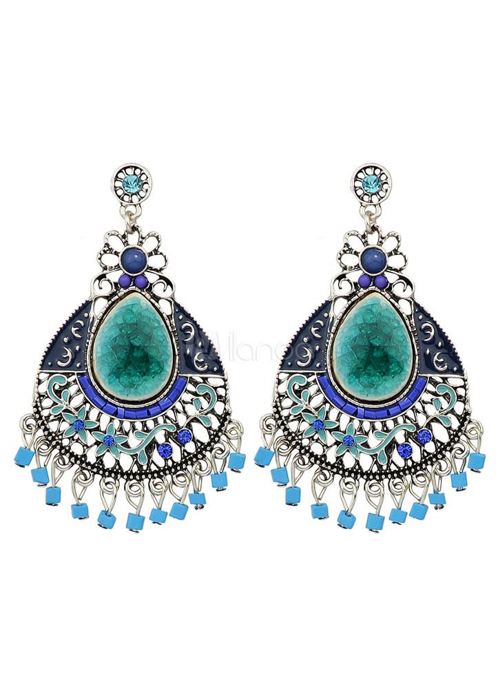 Women's Bohemian Earring Alloy Blue Drop Earring thumbnail