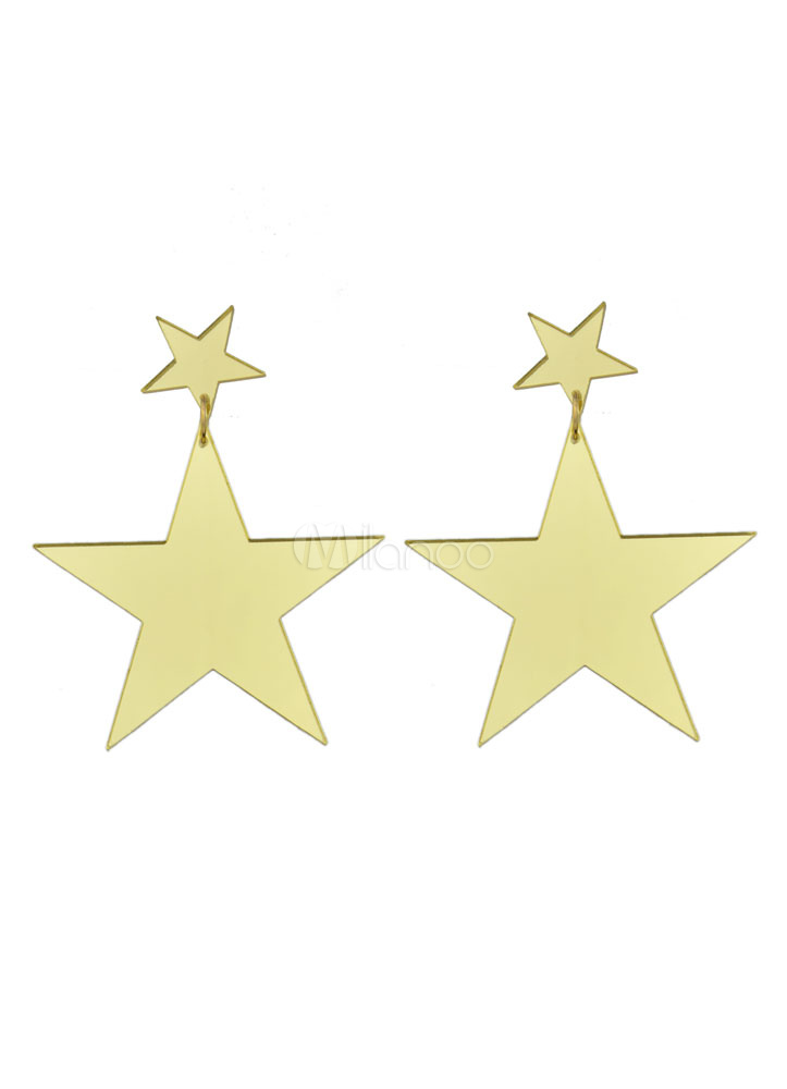 Star Drop Earring Gold Color Stud Earrings For Women thumbnail
