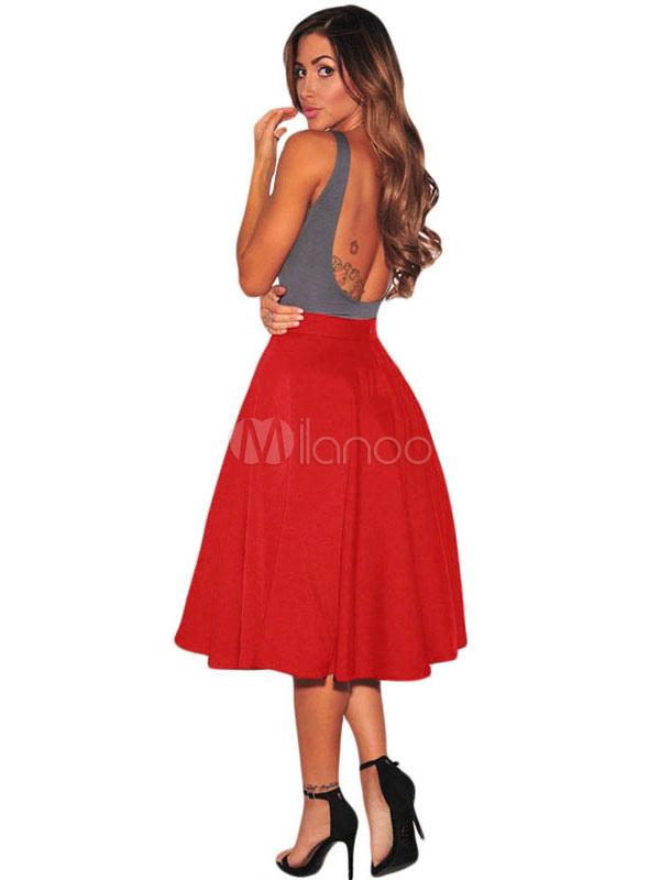 patineuse jupe taille haute lumi re grise femmes pliss e jupe vas. Black Bedroom Furniture Sets. Home Design Ideas