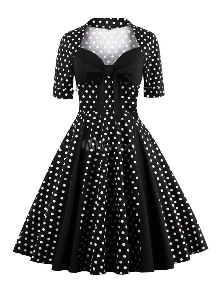 Vestidos de lazo negro vintage