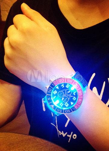LED Round Orange Sport Watch for Men