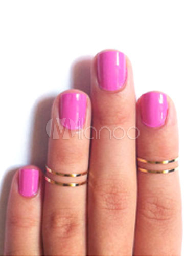 Gold Metal Daily Casual Ring for Women thumbnail