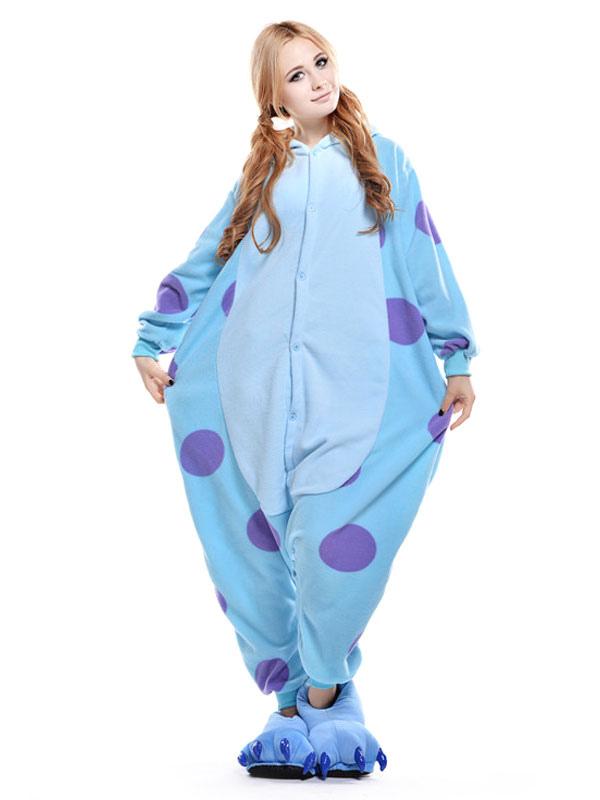 combinaison pyjama licorne bleu textile polaire kigurumi adulte. Black Bedroom Furniture Sets. Home Design Ideas