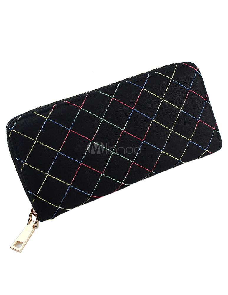 Faux Leather Dark Navy Clutch Bag For Women