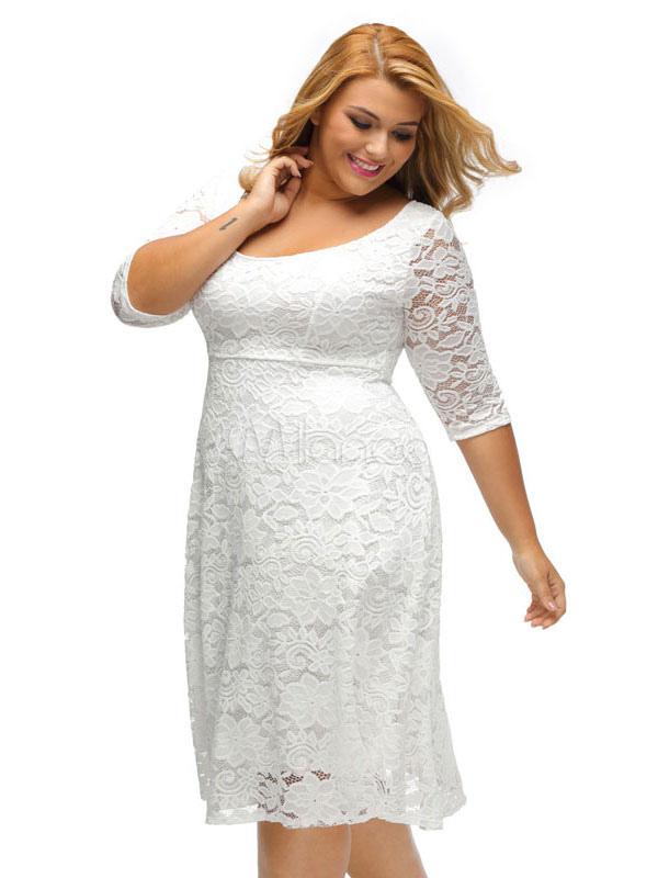 Платье качели белое