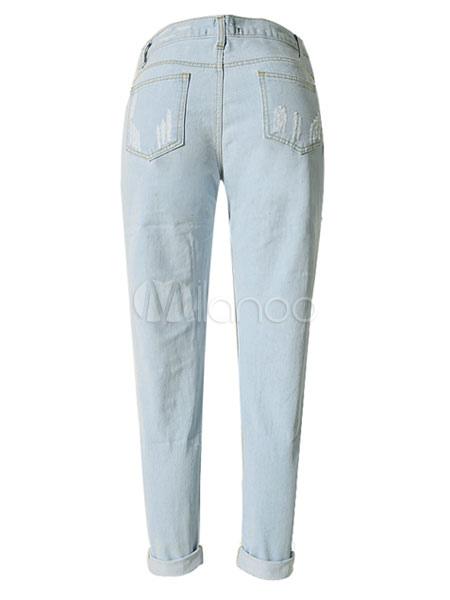 zerrissene jeans jeans frauen ist betr bt loose fit. Black Bedroom Furniture Sets. Home Design Ideas
