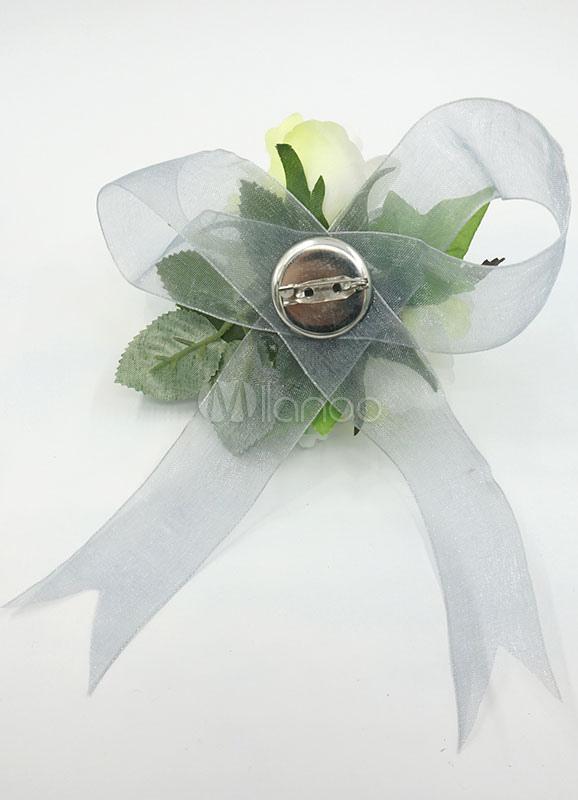 Fiore Matrimonio Uomo : Matrimonio fiore bracciale insieme di fiori seta verde