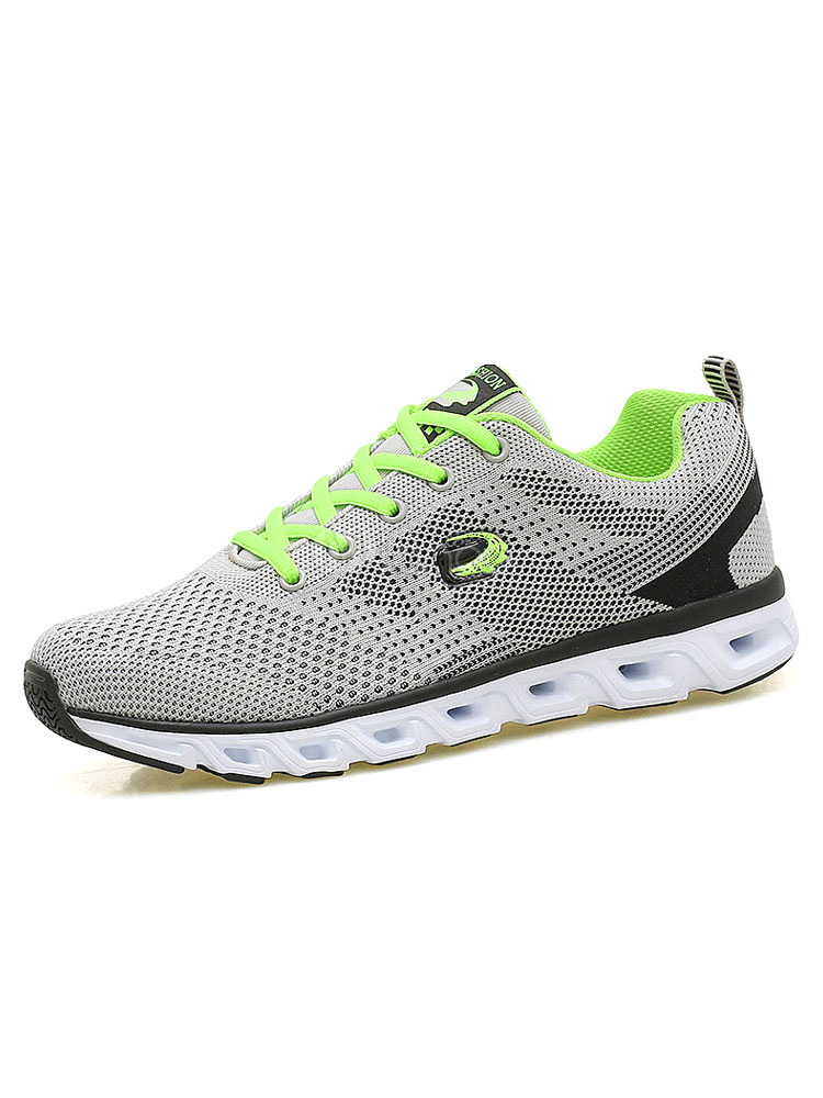 Men's Casual Shoes Mesh Color Block Round Toe Lace Up Breathable Comfy Sneakers thumbnail