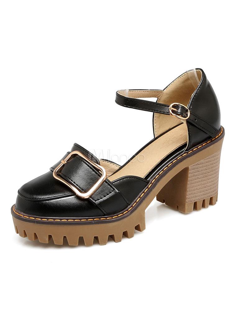 sexy high heels aus f r alltag mit schnallen pumps f r damen. Black Bedroom Furniture Sets. Home Design Ideas