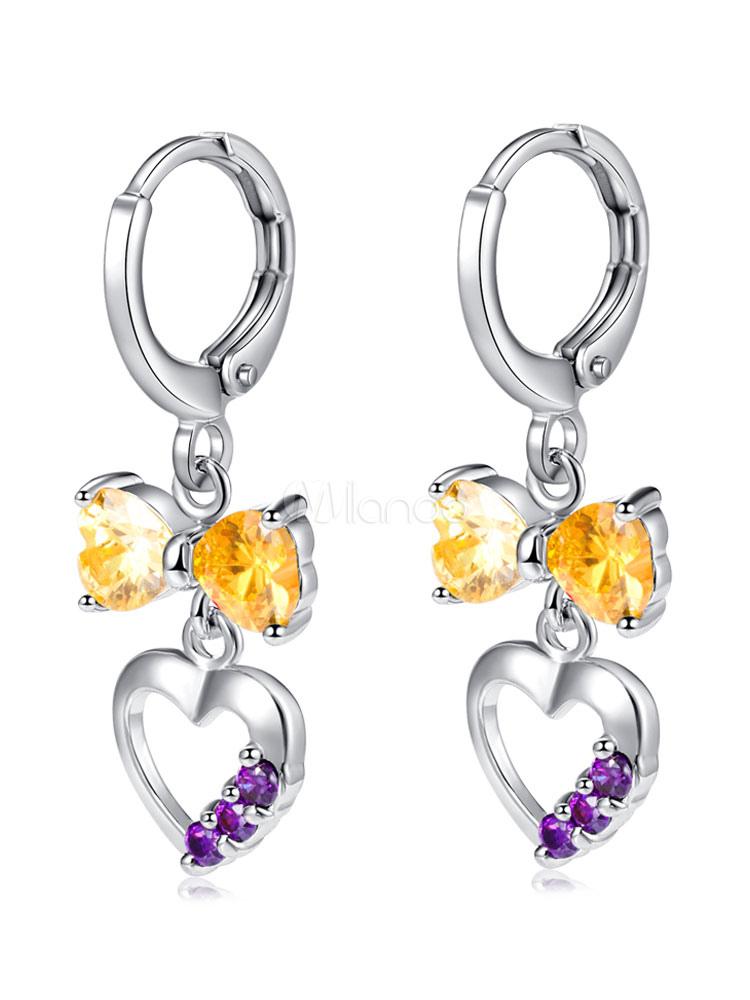 Yellow Elegant Earrings Sweetheart Hollow Out Butterfly Design Women's Party Dangle Earring thumbnail
