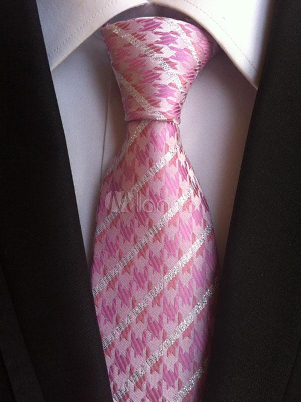 Pink Chic Ties Jacquard Men's Dress Tie thumbnail