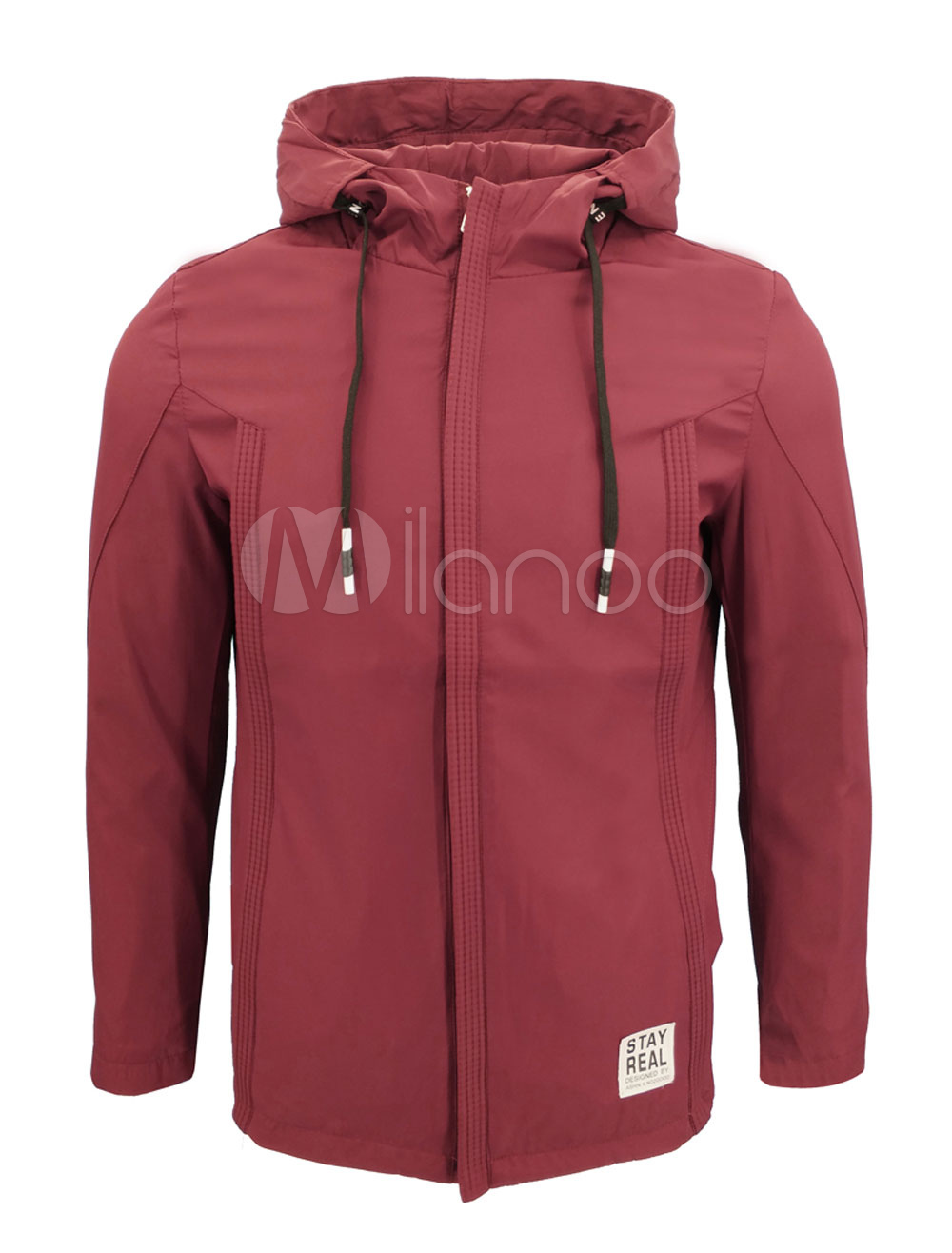 Black Men Jacket Spring Jacket Long Sleeve Zip Up Hooded Jacket thumbnail