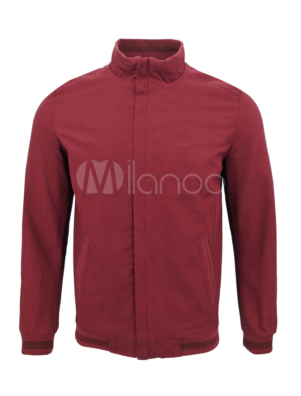 Men Spring Jacket Short Jacket Stand Collar Long Sleeve Casual Jacket thumbnail