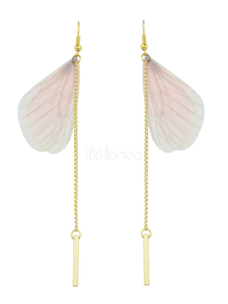 Gold Dangle Earrings Women's Alloy Pierced Duster Earrings thumbnail