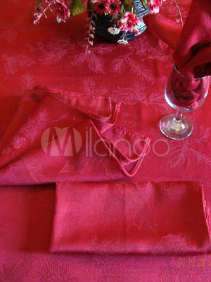 Classical Red Cotton Polyester Plain Table Placemat