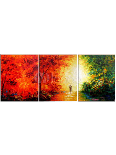 Pintados a mano moderno abstracto paisaje óleo enorme pared arte ...