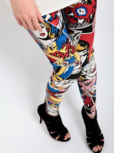 Multi-Color Printed Fashion Cotton Womens Leggings