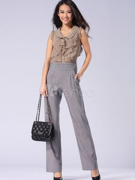 elegant tassel straight polyester womens jumpsuit. Black Bedroom Furniture Sets. Home Design Ideas