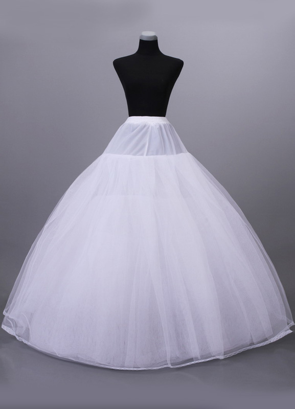 8-Layer Net White Floor Length Womens Wedding Petticoat $44.99 AT vintagedancer.com