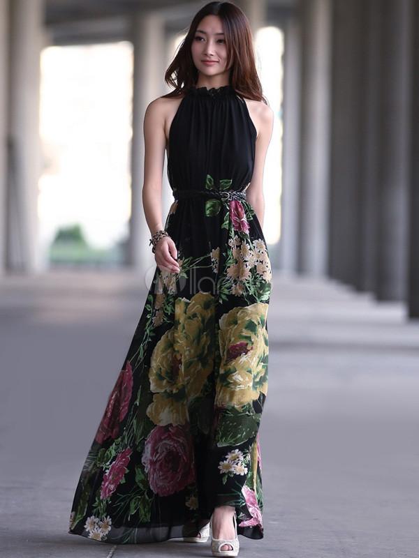 фасон повседневных длинных платьев
