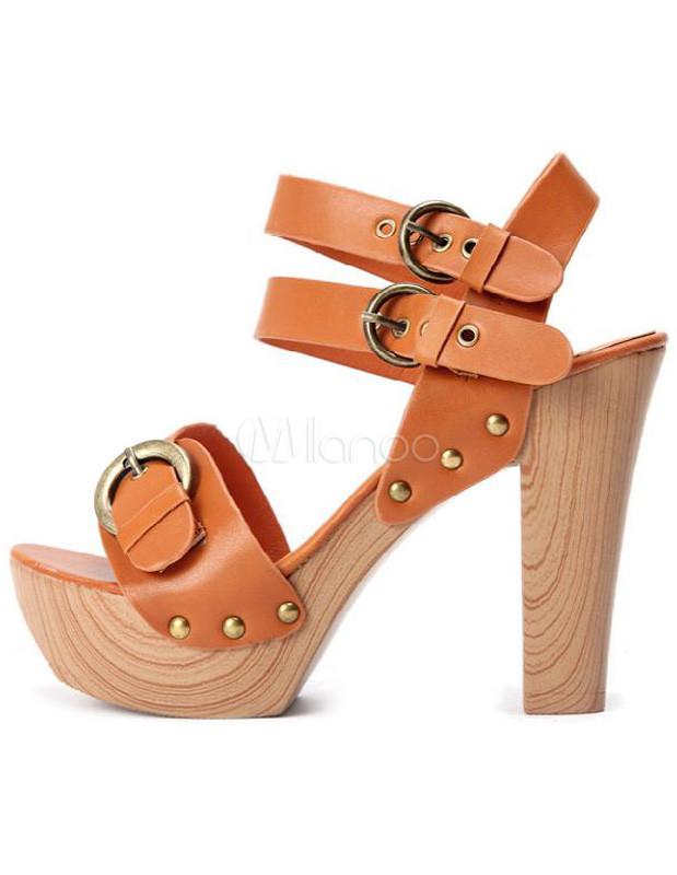 Zapatos De Tacon Grueso
