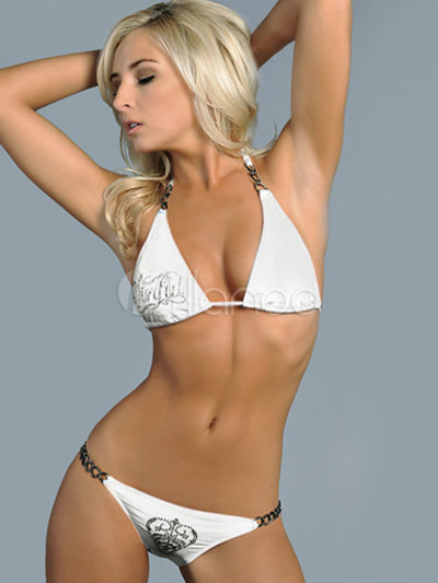 Simple Sexy White Women's Bikini Swimwear - Milanoo.com