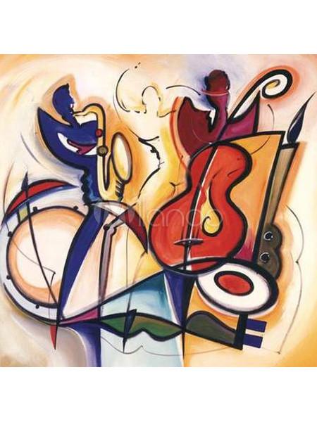 fr produit abstrait de peinture a l huile toile instrument musique p