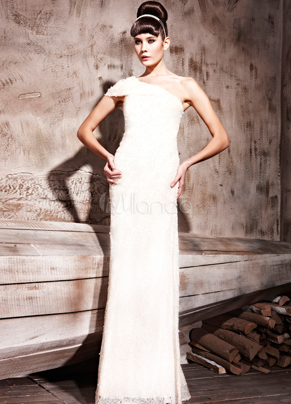 Shaping Daffodil One Shoulder Evening Dress (Wedding Special Offer) photo