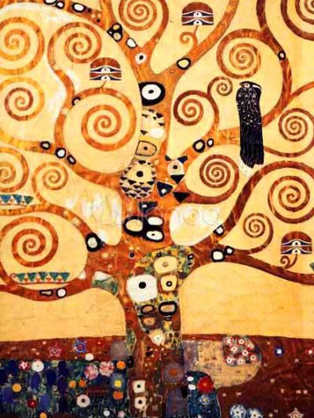 Resumen árboles lienzo pintura al óleo a mano - Milanoo.