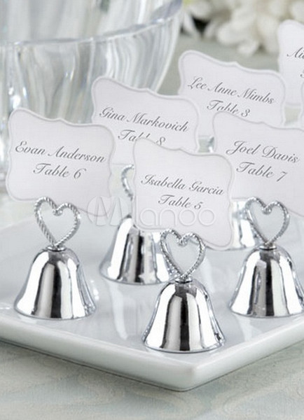 White Bells Wedding Place Card Holders Set of 4