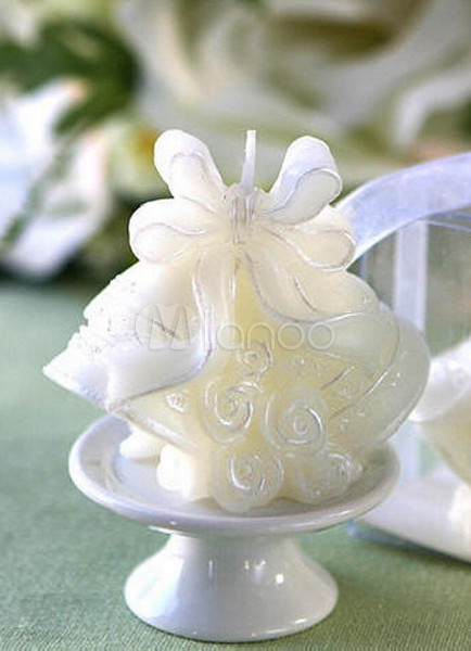 Sweet White Small Bells Wedding Candle