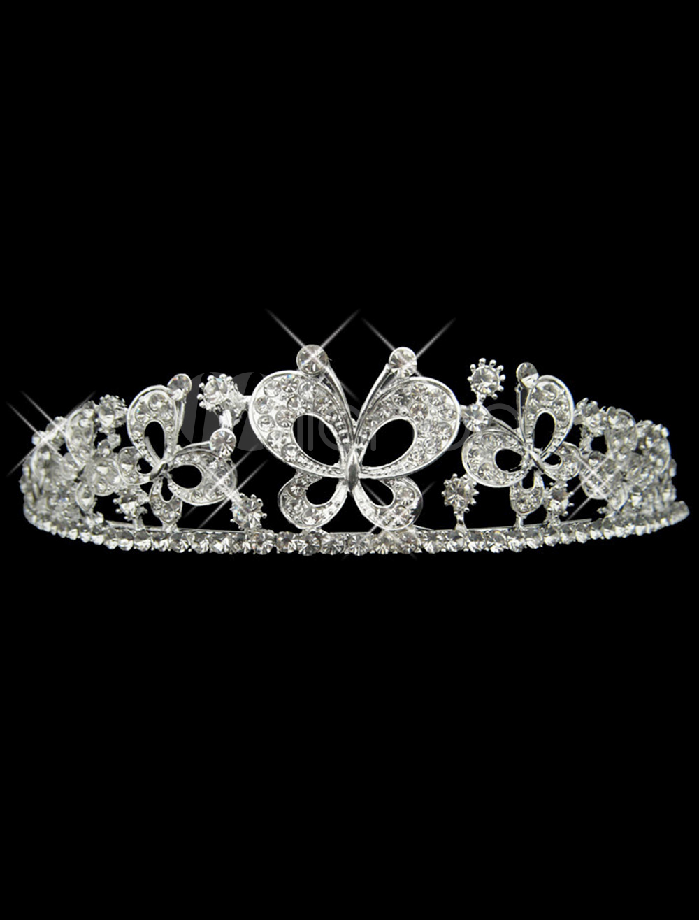 Fabulous Butterfly Rhinestone Metal Wedding Tiara