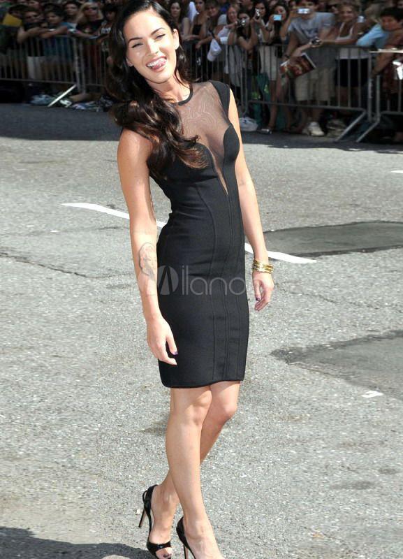 Sexy Black Sheath Women's Cocktail Dress