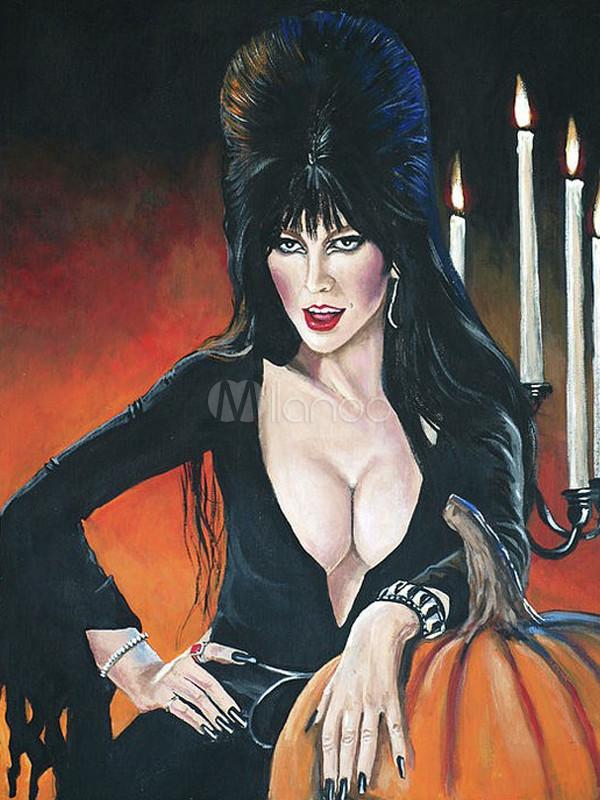 Sexy halloween vampire canvas hand painted oil painting - Pinturas para halloween ...