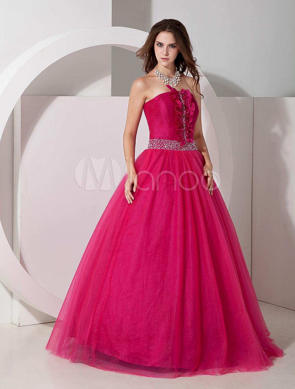 Gorgeous Satin Strapless Floor Length Evening Dress